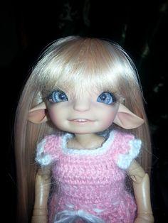 1//12 Bjd Doll SD Doll FL-Soso 2 head-wake up+sleep face Free Face Make UP+Eyes