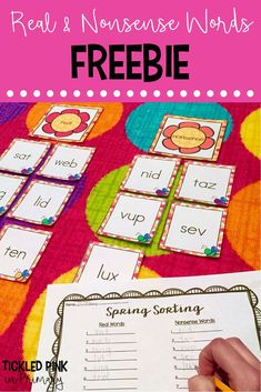 Kindergarten Spring Centers for Literacy and Math Autism Activities, Sorting Activities, Language Activities, Kindergarten Activities, Preschool, Kindergarten Class, Nonsense Words, Word Sorts, Spring