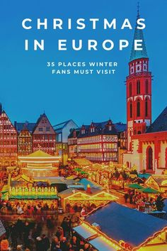Looking for the best places to visit in Europen at Christmas? This guide details popular Christmas markets, festive lights and the best Christmas shopping on the continent! Into skiiing? We've included the cities near slopes too. Click to find out the best cities in Europe to visit in December. Christmas Markets Europe, Christmas Travel, Christmas Shopping, Holiday Travel, Merry Christmas, Europe Travel Guide, Europe Destinations, Travel Guides, Travel Plan