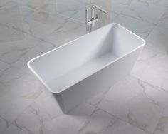 Adoro Freestanding Bathtub Capri Rectangular in solid surface