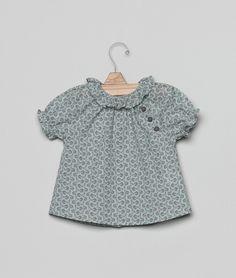Blouse fleurs boutons - vert | Chemises | Bébé | Bébé | Nícoli