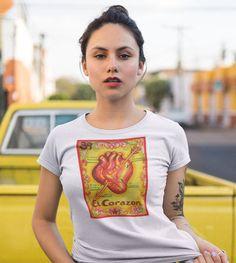 El Corazon Latina Unisex T-Shirt #GirlfriendGift #GirlPowerShirt #ChingonaShirt #GiftForHer #LatinaShirt #LatinoShirt #LoteriaInspired #WomensShirt #MexicanaShirt #MexicanShirt