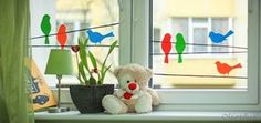 Kids room window sticker