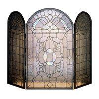 Meyda Tiffany 48104 Clear Beveled Fireplace Screen