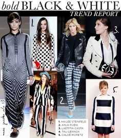 Bold Black and White: Trend Report ~#Spring Trends 2013