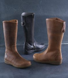 c31d22ec99af1b Women get style and support with Andina Leather Tall Boots. Crafted of  tumbled leather uppers