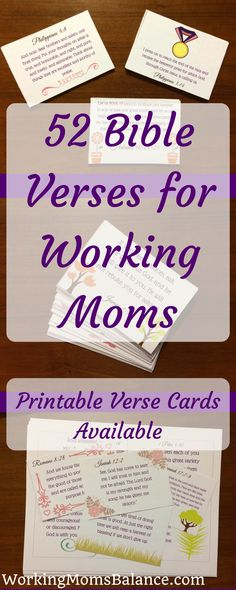 52 Bible Verses for working moms to help encourage you in your daily life. Printable verse cards are available for each of the cards. You can print them and carry them with you throughout your day to meditate on God's word. Use these Bible verses for work Bible Verse For Moms, Bible Verses Quotes, Encouragement Quotes, Wisdom Quotes, Scriptures, Working Mom Tips, Working Mom Quotes, Verses For Cards, Thing 1