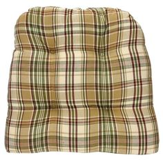 Thyme Chair Pad in a classic plaid of cream, green, and brown for your kitchen or dining room table chair decorating features reinforced ties, and is comfortabl Dining Room Table Chairs, Cool Tones, Chair Pads, Burgundy, Men Casual, Plaid, Cool Stuff, Cotton, Mens Tops