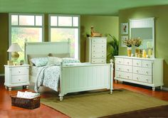 Pottery Bedroom Set in White