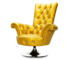 Classy Furniture Design in Golden Color By Bretz. - This is more of a butter gold, in my opinion.