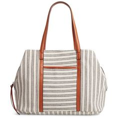 Women's Street Level Stripe Tote ($55) ❤ liked on Polyvore featuring bags, handbags, tote bags, black, striped purse, tote hand bags, striped tote, striped handbags and stripe tote bag