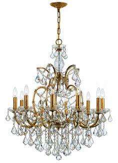 Exquisite Crystal Gold Chandelier