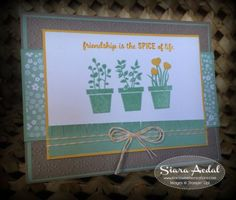 Siara Sweet Sensations: Stampin Up Gift From The Garden card stamp set