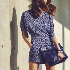 Blue crush: a fresh take on summer in the city http://on.dvf.com/1MxxDCY #DVFsummer