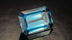 This emerald-cut blue zircon weighs over 36 carats. - Courtesy Pala International