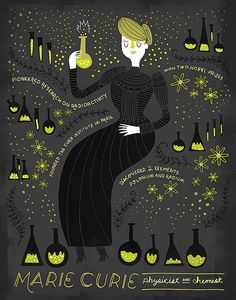 Women in Science: Marie Curie by Rachelignotofsky on Etsy