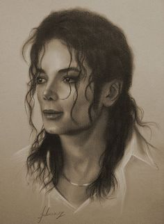 Celebrity Pencil Portraits - Michael Jackson