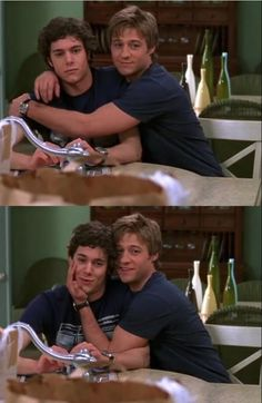Adam and Ben on set of The OC.You can find The oc and more on our website.Adam and Ben on set of The OC. Movies And Series, Movies And Tv Shows, Movies Showing, The Oc Tv Show, Adam Brody, Boyfriend Humor, Funny Love, Funny Guys, The Oc