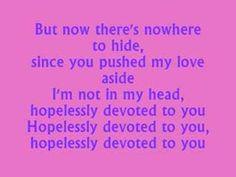 Hopelessly Devoted  Karaoke Instrumental Olivia-Newton John