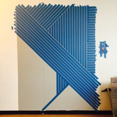 DIY Linear Wallpaper | Idea Central - The CB2 Blog