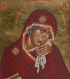 Icône de l'Espérance (Jn 19,25-27) - Padre #DamianoPuccini - #Lotedhal    «Marie se tient debout sous la croix. Elle y demeure, sans en bouger, elle ne fuit pas. Elle ne crie pas sa colère envers Dieu, ne se rebelle pas devant l'épilogue absurde et dramatique de l'histoire du prophète de Nazareth, son fils.»