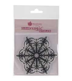Woodware Craft Collection Clear Magic Stamp-Fancy Snowflake