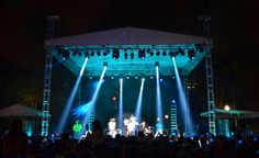 Outdoor concert lighting and staging