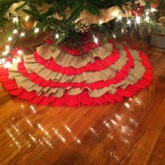 Ruffle tree skirt.  K3