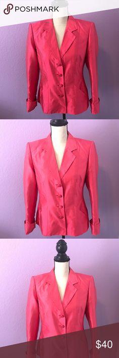 Escada pink silk blazer jacket women's Escada pink silk blazer jacket women's size 36. Great vintage condition. Well kept and 100% Authentic. Escada Jackets & Coats Blazers