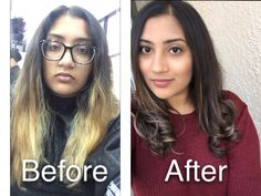 Color change and hair cut