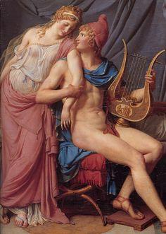 Jacques-Louis David (Jacques Louis David) (1748-1825) The Courtship of Paris and Helen Oil on canvas 1788