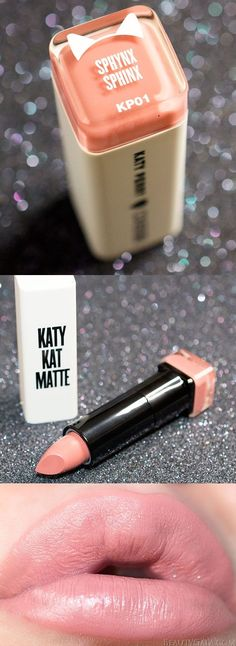 """Covergirl Katy Kat Matte Lipstick in """"Sphynx"""" and like OMG! get some yourself some pawtastic adorable cat shirts, cat socks, and other cat apparel by tapping the pin!"""