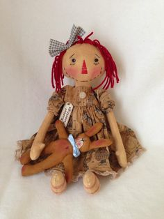 Easter Raggedy Doll from cathyraggedy pattern