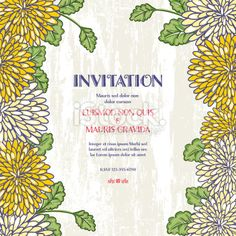plant garden party vertical invitation template with an oblong frame