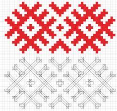 Как нарисовать белорусский орнамент в Illustrator - Скачать по-белорусски Knitting Charts, Knitting Patterns, Crochet Patterns, Embroidery Patterns, Cross Stitch Patterns, Ornament Tutorial, Creative Embroidery, Sewing Crafts, Needlework