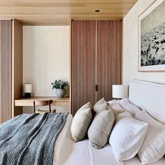 """Valentina Ullberg on Instagram: """"I love the neutral tones in this one. Invites for a good night's sleep. // design @luca.architect / @backengillamarchitects /…"""" Guest Bedroom Decor, Home Bedroom, Modern Bedroom, Diner Decor, Home Decor Quotes, Traditional Bedroom, Beautiful Bedrooms, Cheap Home Decor, Decor Interior Design"""