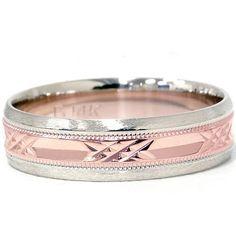 14K Rose & White Gold Wedding Band Pompeii3 Inc., http://www.amazon.com/dp/B00826PJ2I/ref=cm_sw_r_pi_dp_wWH-qb0KWJ8B5