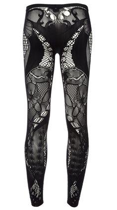 3f5cf7d99d Alexander McQueen leggings Ropa Gótica