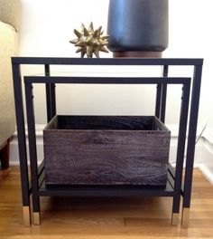 awesome hack IKEA VITTSJO Nesting Tables - spray gold?