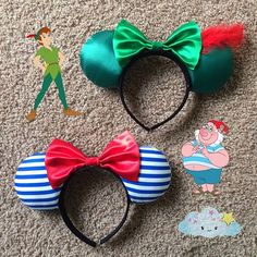 """Peter Pan & Mr.Smee"" Inspired! Minnie Mouse Disney Ears Source Instagram @visionsofadaydream"