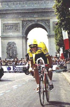 Greg LeMond (b 1961) American professional road racing cyclist; won the Road Race World Championship (1983, 1989); the three time winner of the Tour de France (1986, 1989, 1990); the only American cyclist to have won the Tour; anti-doping advocate