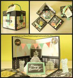 Explosion Box scrapbooking happy birthday