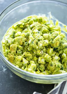 Spice up the usual egg salad with the addition of avocado.