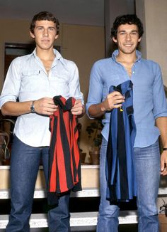 Legends - A tale of rivalry between two brothers : Franco Baresi (AC Milan, left) vs Giuseppe 'Beppe' Baresi (Inter Milan, right)