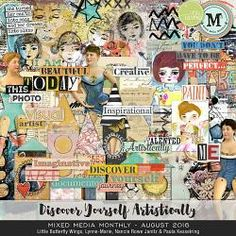 Mixed Media Monthly - August '16 - DISCOVER / YOURSELF / ARTISTICALLY