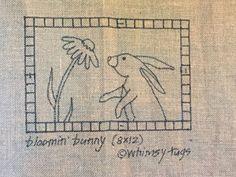 Whimsy Rugs Rug Hooking Pattern - Bloomin' Bunny - Scottish Linen - 8 x 12   Crafts, Needlecrafts & Yarn, Rug Making   eBay!