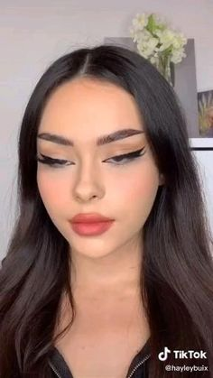 Cute Makeup Looks, Makeup Looks Tutorial, Makeup Eye Looks, Eyeliner Tutorial, Pretty Makeup, Simple Makeup, Natural Makeup, Emo Makeup, Grunge Makeup
