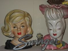 Just a few of my head vases.