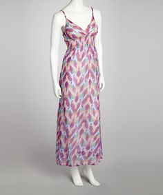 Take a look at this Fuchsia & Purple Shirred Maxi Dress by She's Cool on #zulily today!