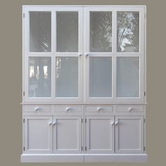 shabby chic painted distressed bookcase or hutch